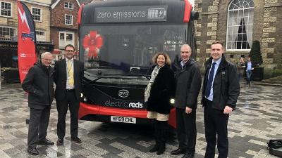 Electric buses unveiled in Salisbury