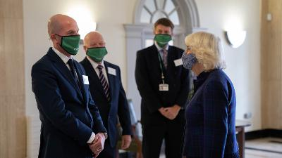 HRH Duchess of Cornwall and CEO Terence Herbert