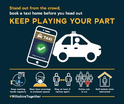 Graphic to encourage people to book taxis on nights out