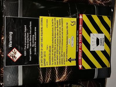 Text explaining the danger of using fireworks