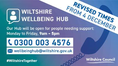 Wiltshire Wellbeing Hub revised opening times